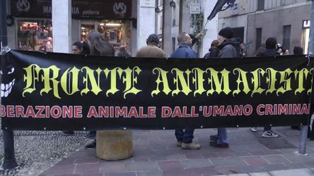GLI ANIMALISTI PROTESTANO