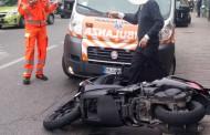 INCIDENTE : AUTOMOBILISTA TAGLIA LA STRADA  AD UNA  MOTO