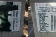 INDIVIDUATO L' IMBRATTATORE  DELLA LAPIDE AI CADUTI DELLA REPUBBLICA SOCIALE ITALIANA