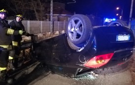 SEREGNO – INCIDENTE: STA MALE IN AUTO, PERDE IL CONTROLLO E CAPPOTTA (video)