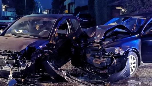 MEDA – INCIDENTE : DUE AUTO DISTRUTTE E TRE PERSONE FERITE