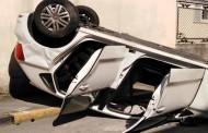 LISSONE – INCIDENTE : AUTO CONTRO AUTO E UNA SI RIBALTA