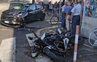 SEREGNO – INCIDENTE : MOTO CONTRO AUTO. MOTOCICLISTA FA UN VOLO DI OLTRE 20 METRI