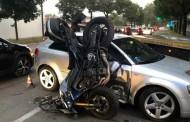 """MONZA – INCIDENTE : AUTO CONTRO MOTO CHE FINISCE… """"IN PIEDI"""""""