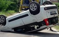 GIUSSANO – INCIDENTE SULLA SS.36: UN'AUTO FINISCE CON LE RUOTE AL CIELO