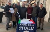 SEREGNO – FRATELLI D'ITALIA RACCOGLIE FIRME PER 4 LEGGI DI INIZIATIVA POPOLARE