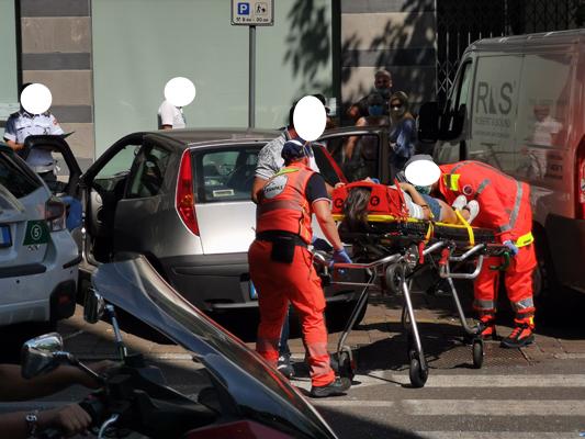 SEREGNO – DUE INCIDENTI NEL POMERIGGIO:  IL PIU' GRAVE IN CORSO MATTEOTTI