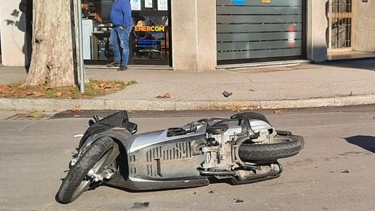 SEREGNO – INCIDENTE : MOTO CONTRO AUTO E UN CENTAURO FINISCE IN OSPEDALE